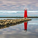 Lighthouse Reflection by Jerry Walter