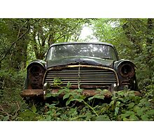 Rusty Car in Woods Photographic Print