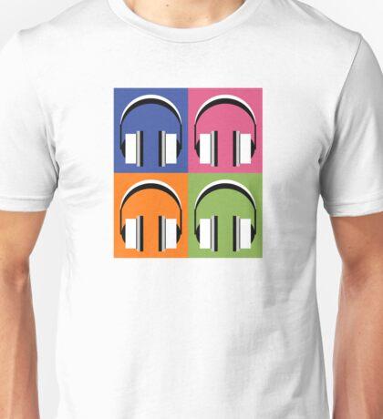 Headphones in bright colours Unisex T-Shirt