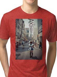 Akihabara - Electric Town Tri-blend T-Shirt