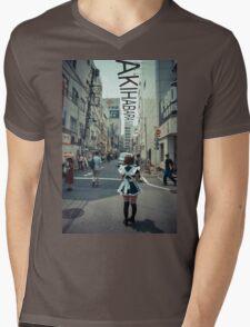 Akihabara - Electric Town Mens V-Neck T-Shirt