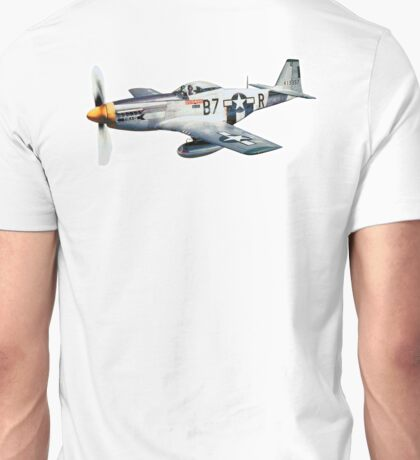 MUSTANG, Fighter Aircraft, WWII, Combat Aircraft, USAAF, P-51 Mustang of 361st Fighter Group, 1944 Unisex T-Shirt