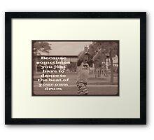 Tiny Rocker Framed Print