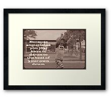 Tiny Rocker Framed Print