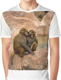Monkey happy family  Graphic T-Shirt