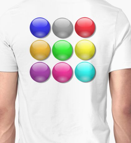MARBLES, Toy, Game, Balls, Coloured, bright, colourful,  Unisex T-Shirt