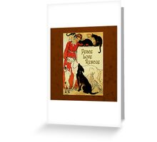 Peace Love Rescue 2 Greeting Card