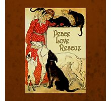 Peace Love Rescue 2 Photographic Print
