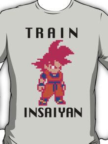 Train Insaiyan Super Saiyan God Goku (Black) T-Shirt