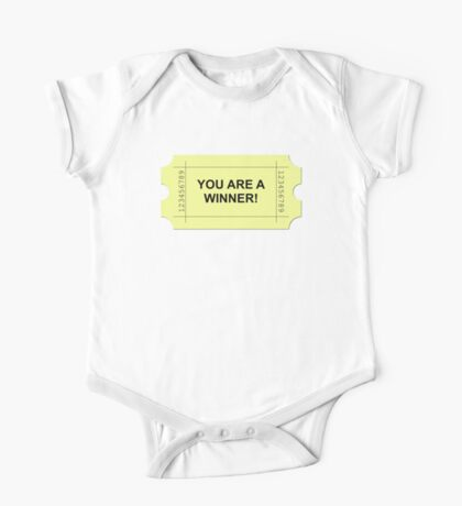 Yellow Ticket YOU ARE A WINNER One Piece - Short Sleeve