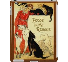 Peace Love Rescue 2 iPad Case/Skin