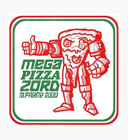 MEGA PIZZA ZORD SUPREME 2000 Photographic Print