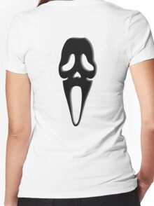 Scream, Halloween, Party, Horror, Death, BLACK Women's Fitted V-Neck T-Shirt