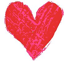 Stamped Heart Photographic Print
