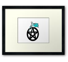 Faerie and Pentacle Framed Print
