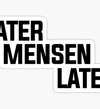 """""""Later Mensen Later"""" Accessoires ONLY! Sticker"""