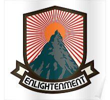 Rock Climbing Enlightenment Poster