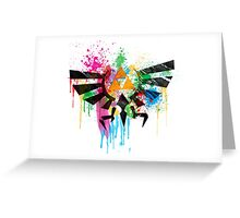 Hylian Paint Splatter Greeting Card