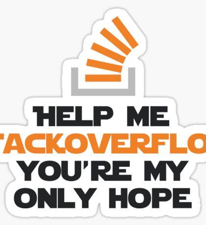 Help me stackoverflow Sticker