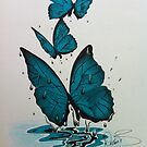 3 refreshed butterflies  by Mrbeckford
