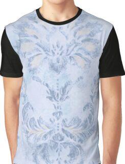 Blue Damask Graphic T-Shirt