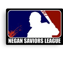 negan saviors major league baseball dead Canvas Print