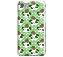 Cactus Panda Face Pattern iPhone Case/Skin