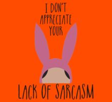 I Don't Appreciate Your Lack Of Sarcasm Kids Tee