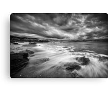 Eco Beach Stormclouds Canvas Print