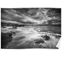 Eco Beach Stormclouds Poster
