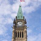 Peace Tower - Centre Block, Ottawa, Canada by Josef Pittner