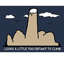 Funny Rock Climbing Cartoon Photographic Print