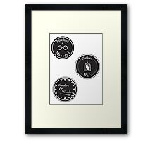 Harry Potter Stickers  Framed Print