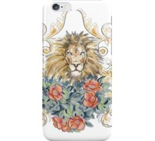 Lion and Roses iPhone Case/Skin