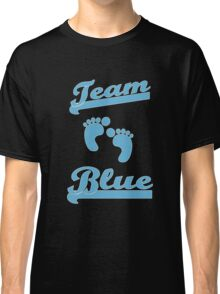 Team Blue Boy Mom Baby Shower Gender Reveal Party Cute Funny Gift Classic T-Shirt