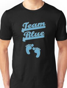 Team Blue Boy Mom Baby Shower Gender Reveal Party Cute Funny Gift Unisex T-Shirt