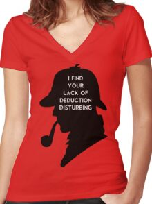 Sherlock I find your lack Women's Fitted V-Neck T-Shirt