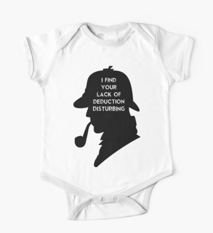 Sherlock I find your lack One Piece - Short Sleeve