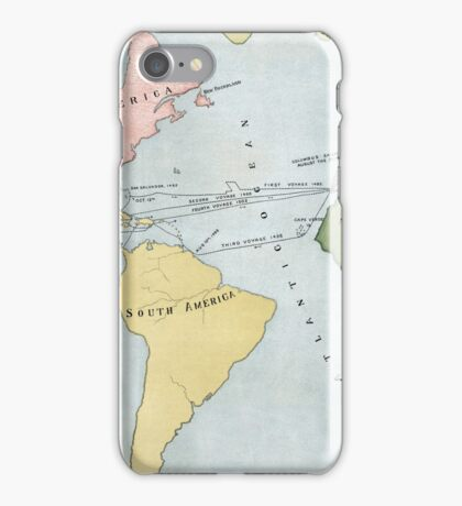 Voyages of Christopher Columbus, 1495-1502 iPhone Case/Skin
