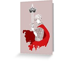 King Arthur_Merlin Greeting Card