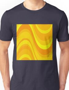Yellow and Golden Waves Abstact Unisex T-Shirt