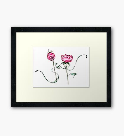 Ribbon Roses Framed Print