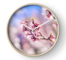 Peach flowers Clock