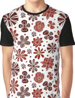 Abstract flowers on a white background Graphic T-Shirt