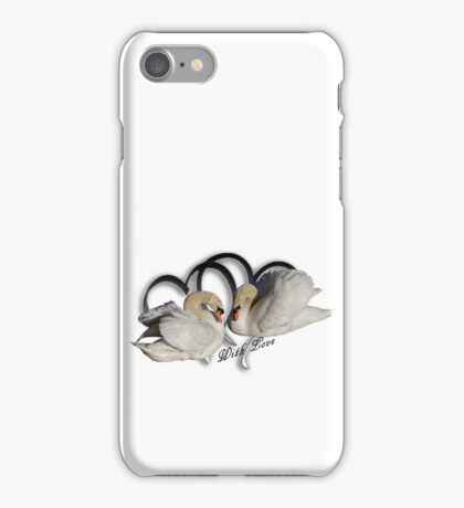 Two White Swans iPhone Case/Skin