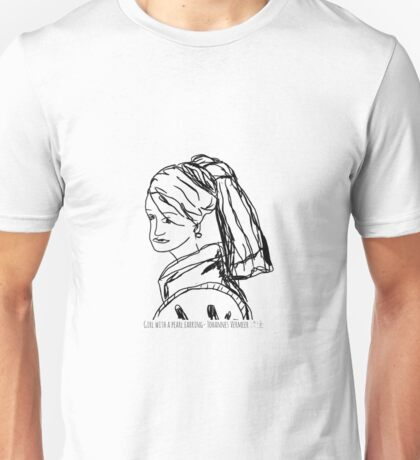 Girl with a pearl earring - Johannes Vermeer Unisex T-Shirt
