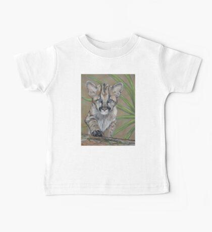 cute baby cougar big cat wildlife  Baby Tee