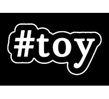 Toy - Hashtag - Black & White Photographic Print