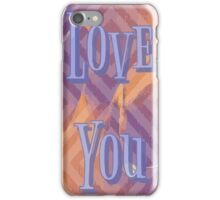 """Love You"" Abstract Design iPhone Case/Skin"