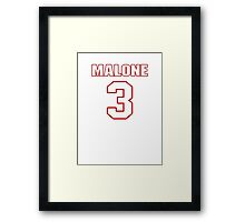 NFL Player Robert Malone three 3 Framed Print